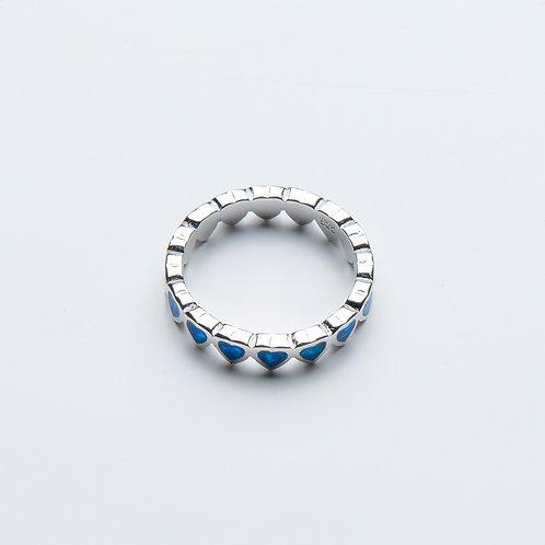 Azure Hearts Ring