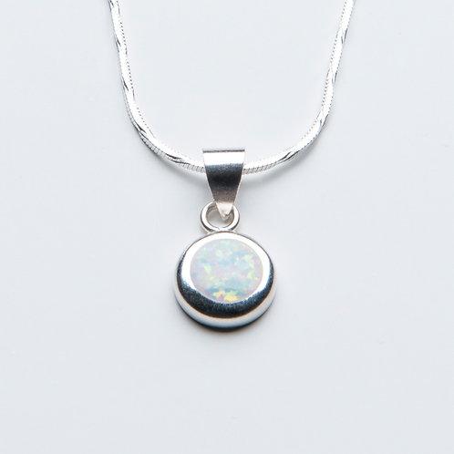White Opal Drop Necklace