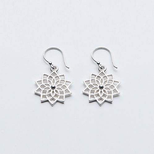 Lotus Mandala Earrings
