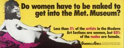 . Guerilla girls, 1989 .