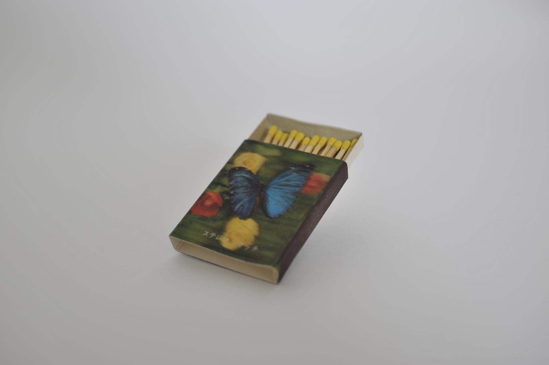 5. fiammiferi con farfalla cangiante