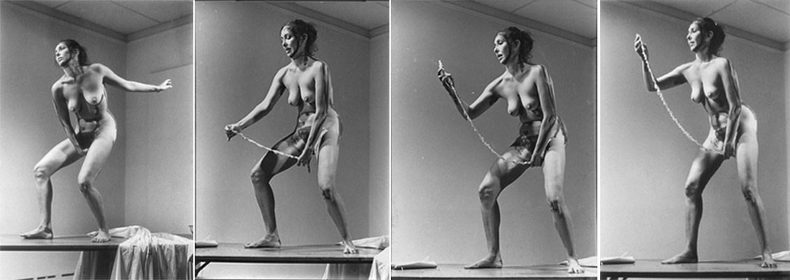 Carolee Schneemann Interior Scroll .