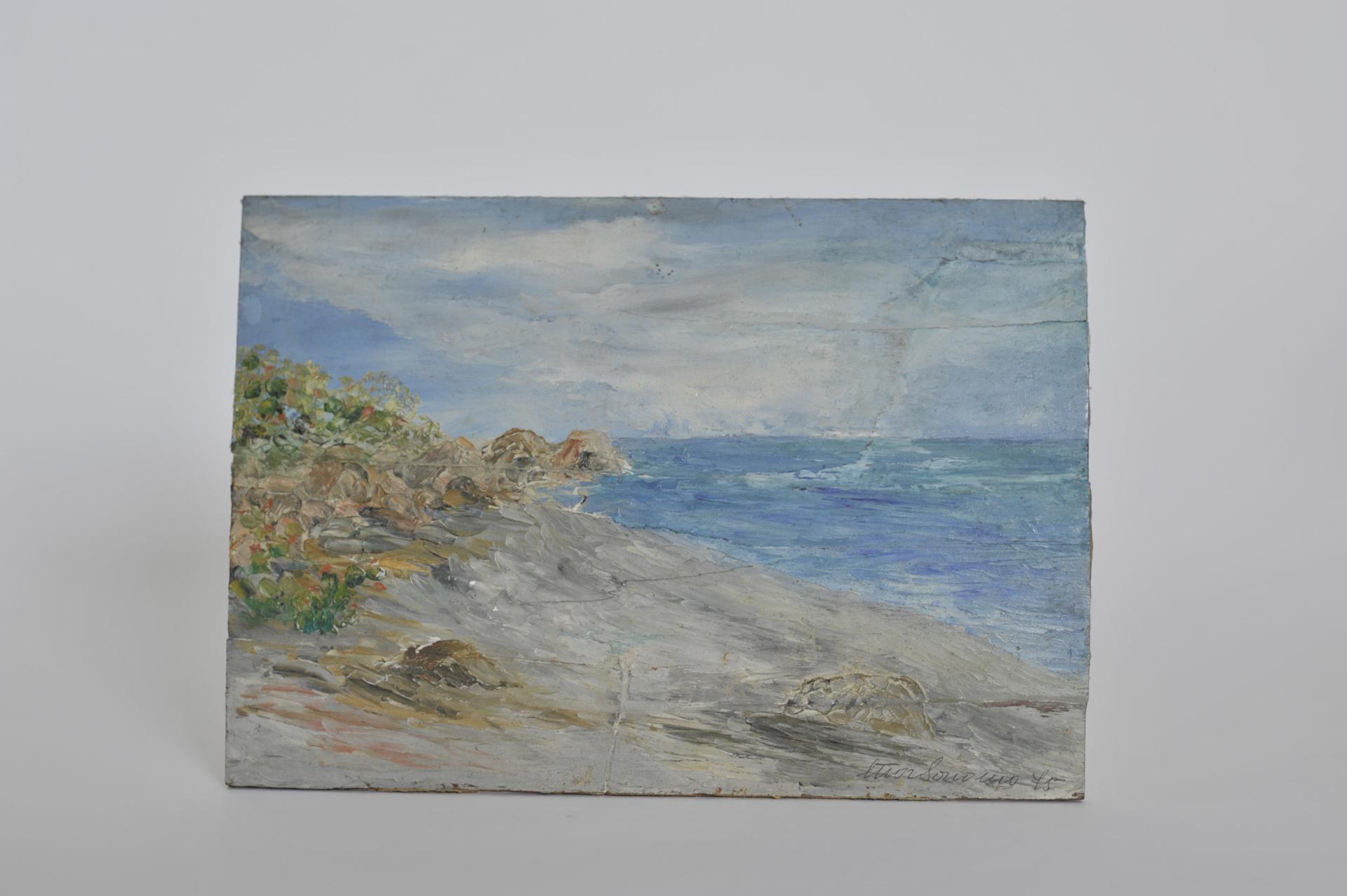 21. paesaggio marino ad olio