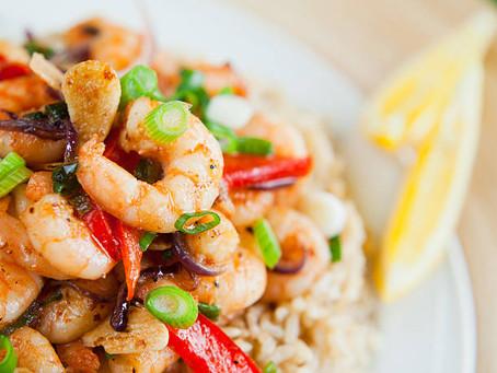 Hot Honey Shrimp Stir Fry