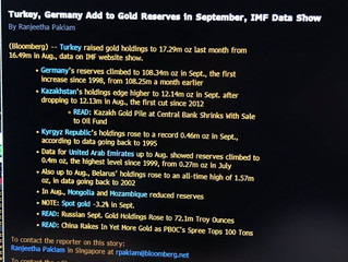 Germany Increases Gold Reserves In September For The First Time In 21 Years – IMF