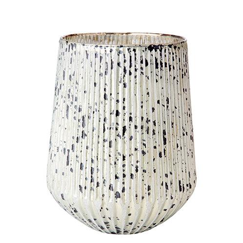 LISA Vase/tea light holder L white