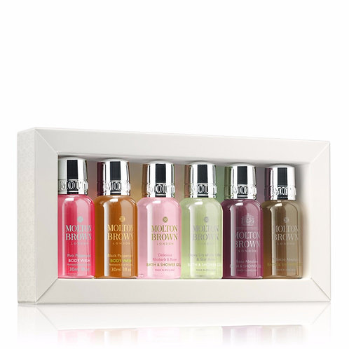Molton Brown indulgent bestsellers mini bath & shower collection