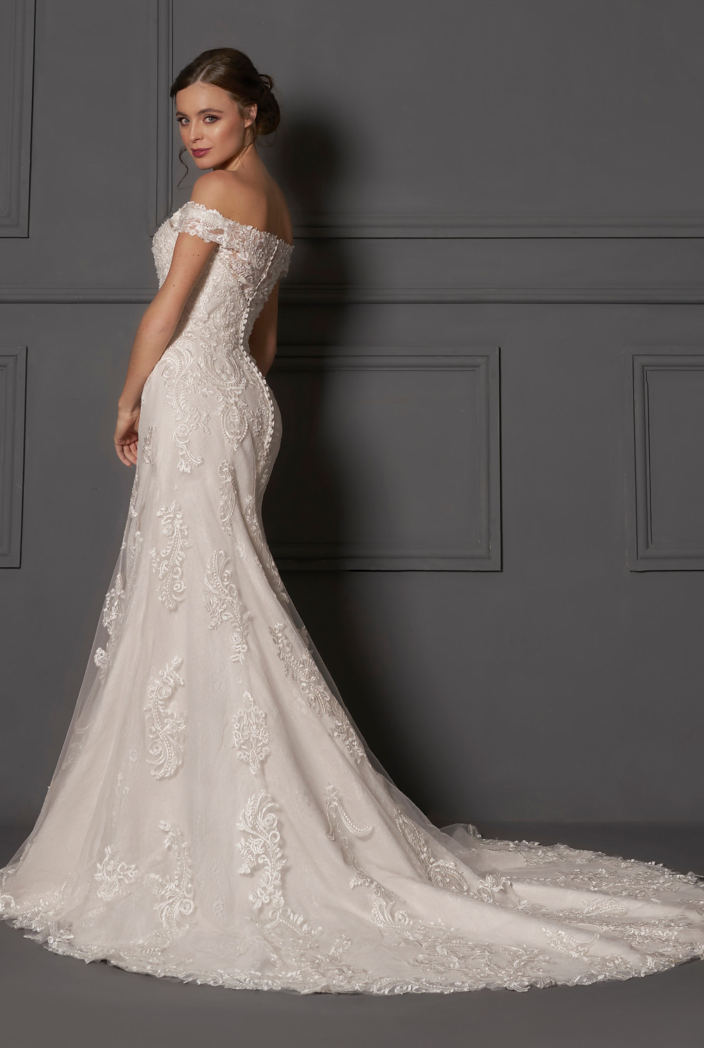 Danielle Couture 2019 Wedding Dress available at Mollydolly's Bridal Boutique