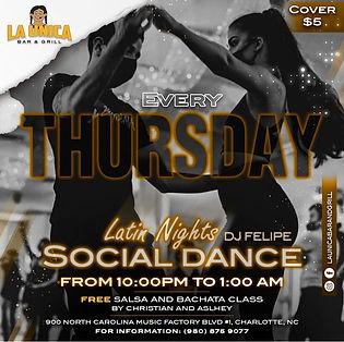 Thursday Night, Latin Social Dancing