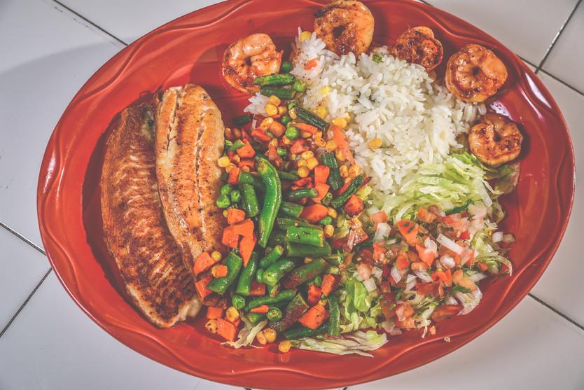 Filete con Camaron   Fish Fillete with Shrimp