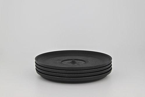 Huskee Universal Saucers X 4 (Charcoal)