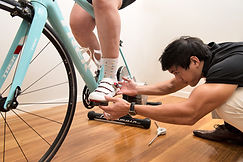 Correcting position during a bike fit