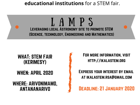 Our upcoming science fair: LAMPS