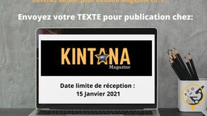Devenez auteur pour Kintana Magazine Ed.3