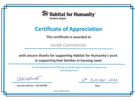Habitat for Humanity donation - October 2020
