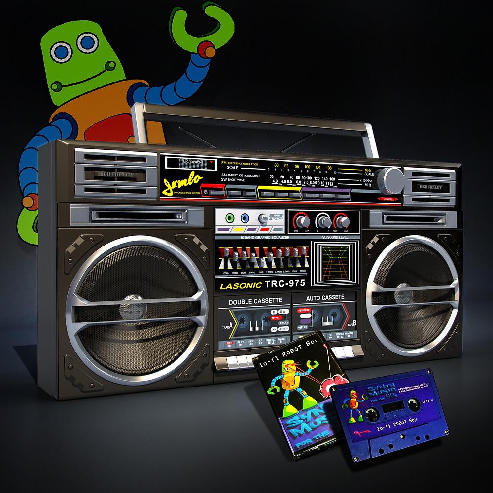 lo-fi ROBOT Boy EP Ghetto Blaster Cassette