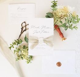 Boho luxe Natalie Jane Wedding Invitatio