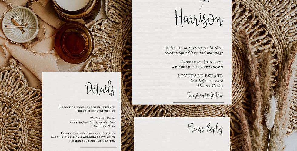 SARAH & HARRISON INVITATION
