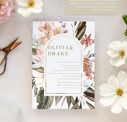 Botanica Rose Invitation