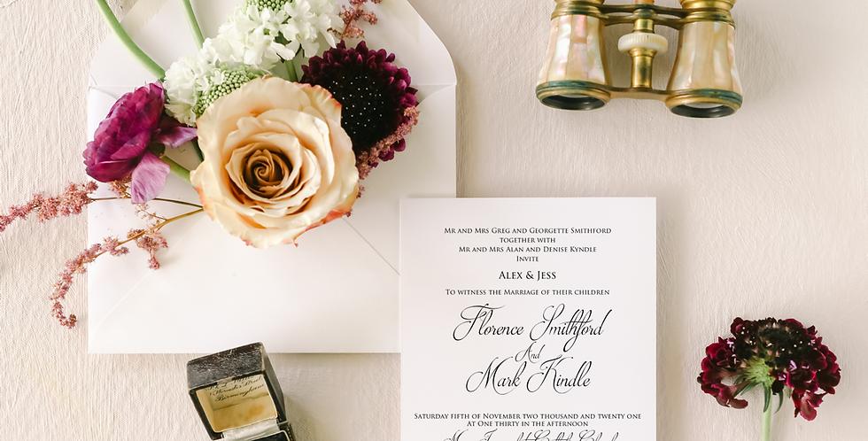 FLORENCE WEDDING INVITATION