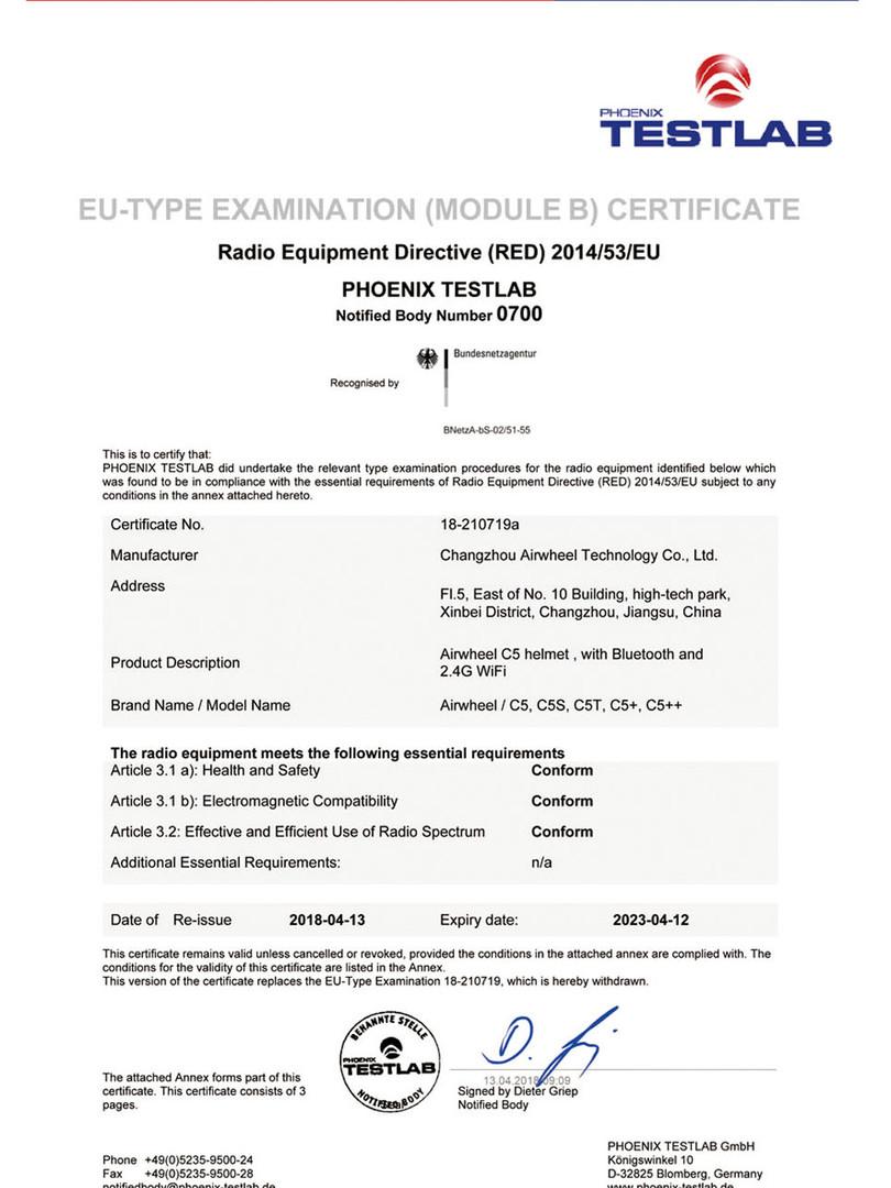 Airwheel_TESALAB_Certifications_20180824
