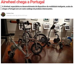 Revista PCGUIA comenta lançamento da Airwheel Portugal