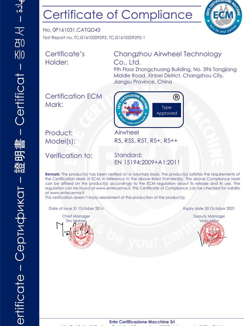 Airwheel_R5_CE_Certificate_2018020314003