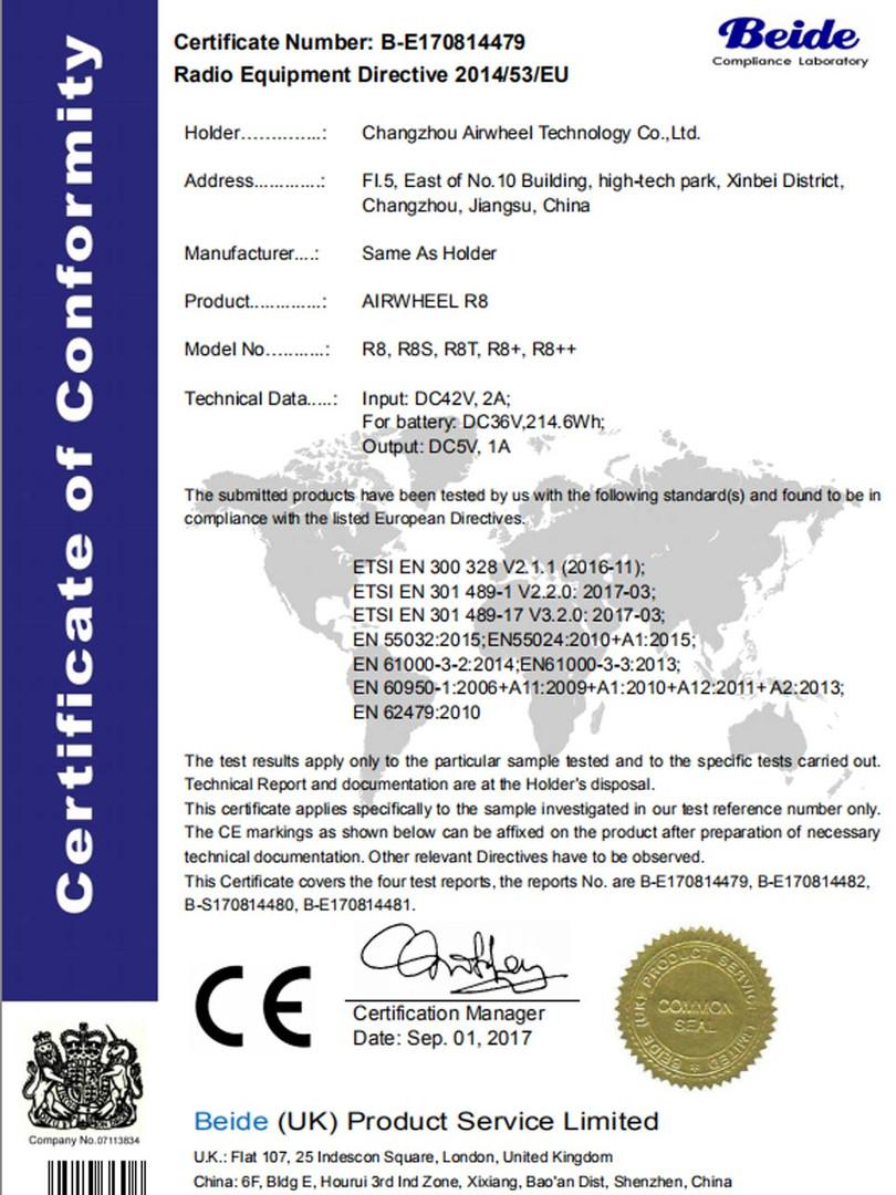Airwheel_R8_CE_Certificate_2018020314100