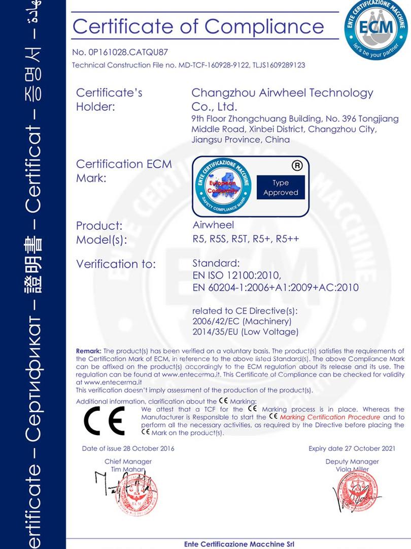 Airwheel_R5_LVD_Certificate_201802031359