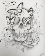Butterflies Skull