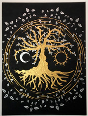Gold and Silver Tree of Life
