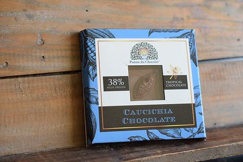 38% COLOMBIAN milk chocolate with lemon and ginger GV/LV/MV/SOYAVRIJ/VEGAN