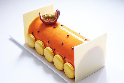Bûche exotique (mangue, passion, vanille) - 6pers GV/LV