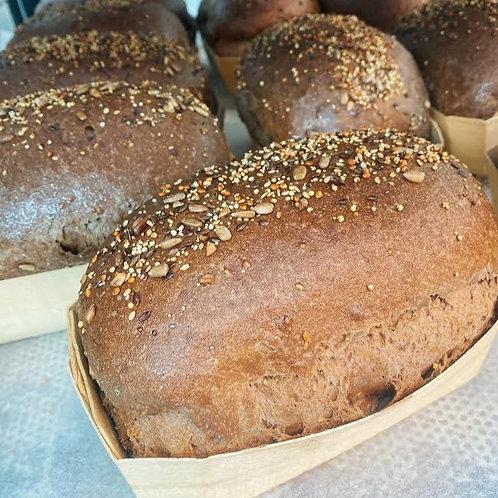 Donker meergranen brood GV/LV/MV/SOYAVRIJ/EIVRIJ/VEGAN - 500gr