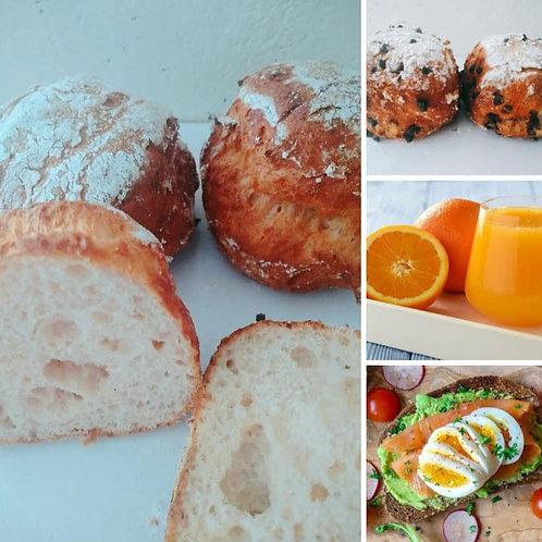 Traditioneel Ontbijt aan huis - 1pers GV OF GV/LV