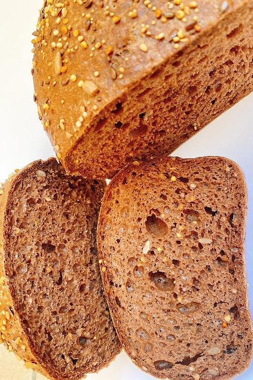 Donker meergranen brood GV/LV/MV/SOYAVRIJ/VEGAN - 500gr