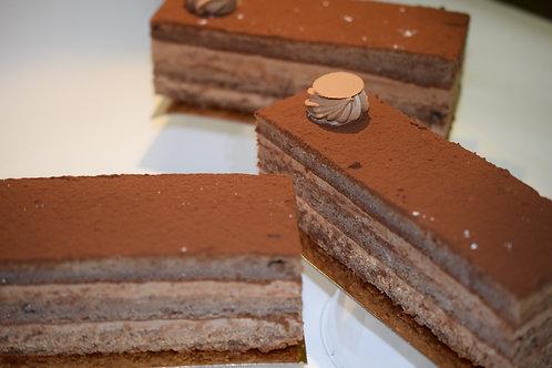 Chocolade truffelcreme  - chocoladebiscuit GV/LV 1pers