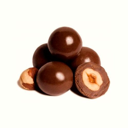 Chocolade hazelnoten MELK 250gr GV/LV/MV/SOJAVRIJ/VEGAN