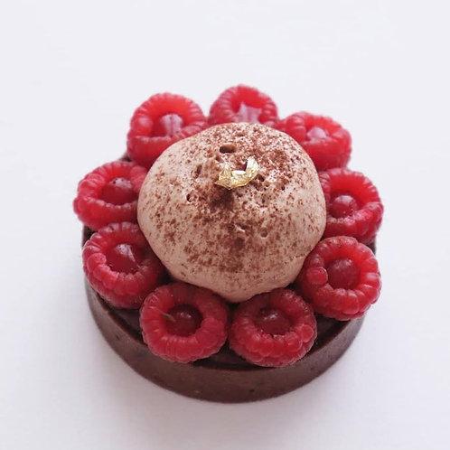 Tartelet Framboos - Chocolat - Frangipane GV/LV/SOYAVRIJ 1pers