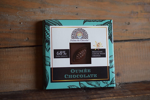 68% brazilian chocolate with orange