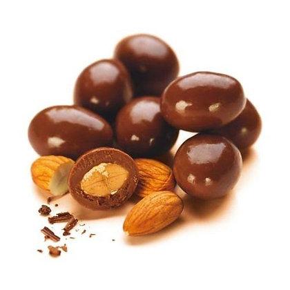 Chocolade amandelen PUUR - 250gr GV/LV/MV/SOJAVRIJ/VEGAN