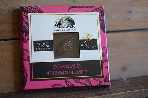 72% COLOMBIAN spiced chocolate GVLV/MV/SOJAVRIJ/VEGAN