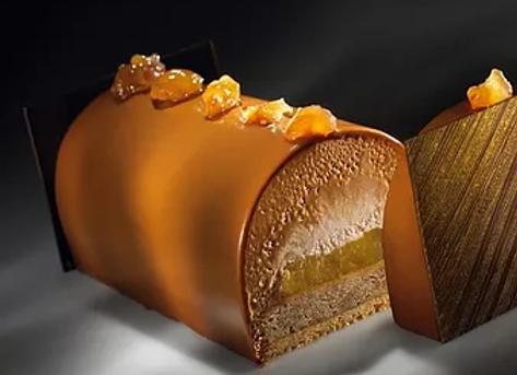 Kerstbuche abrikoos-appel-praline-amandel 6 pers GV