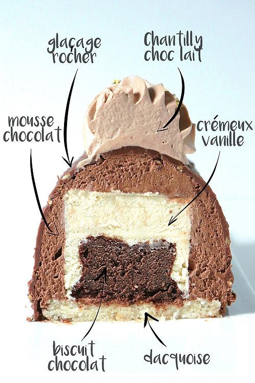 LAURA  - chocolat-vanille - 1 pers GV/LV