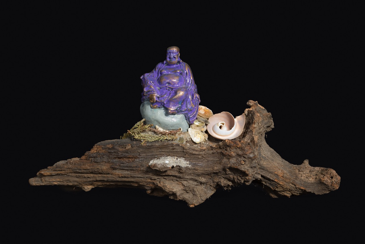 Purple Sitting Buddha