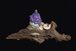 Purple Sitting Buddha
