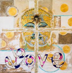 SOLD! Gold Love Buddha