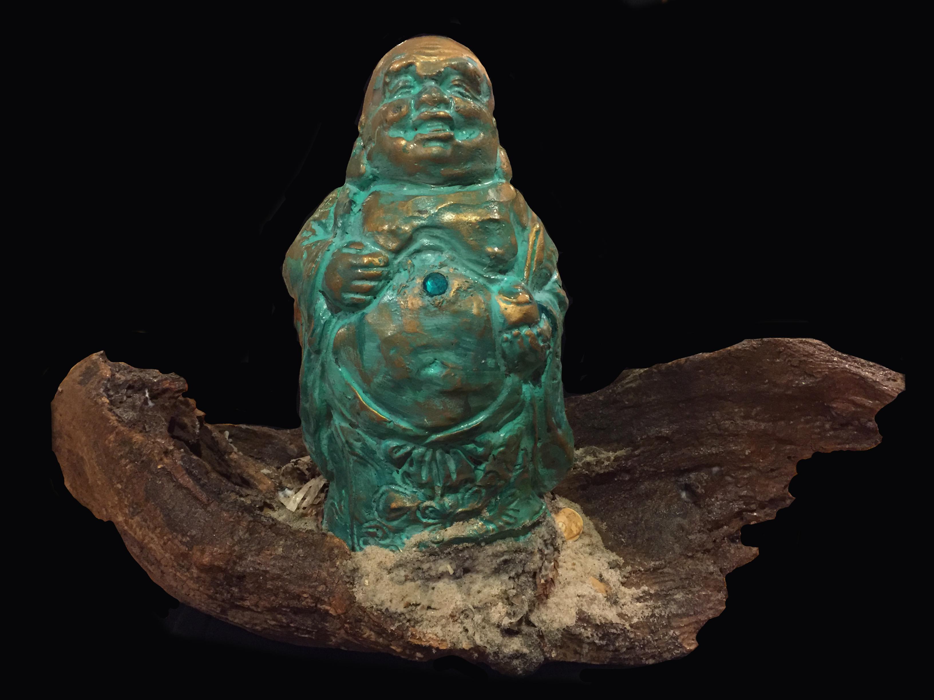 Large Blue Buddha