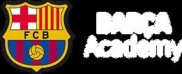 Barca Academy Logo Horizontal White.png