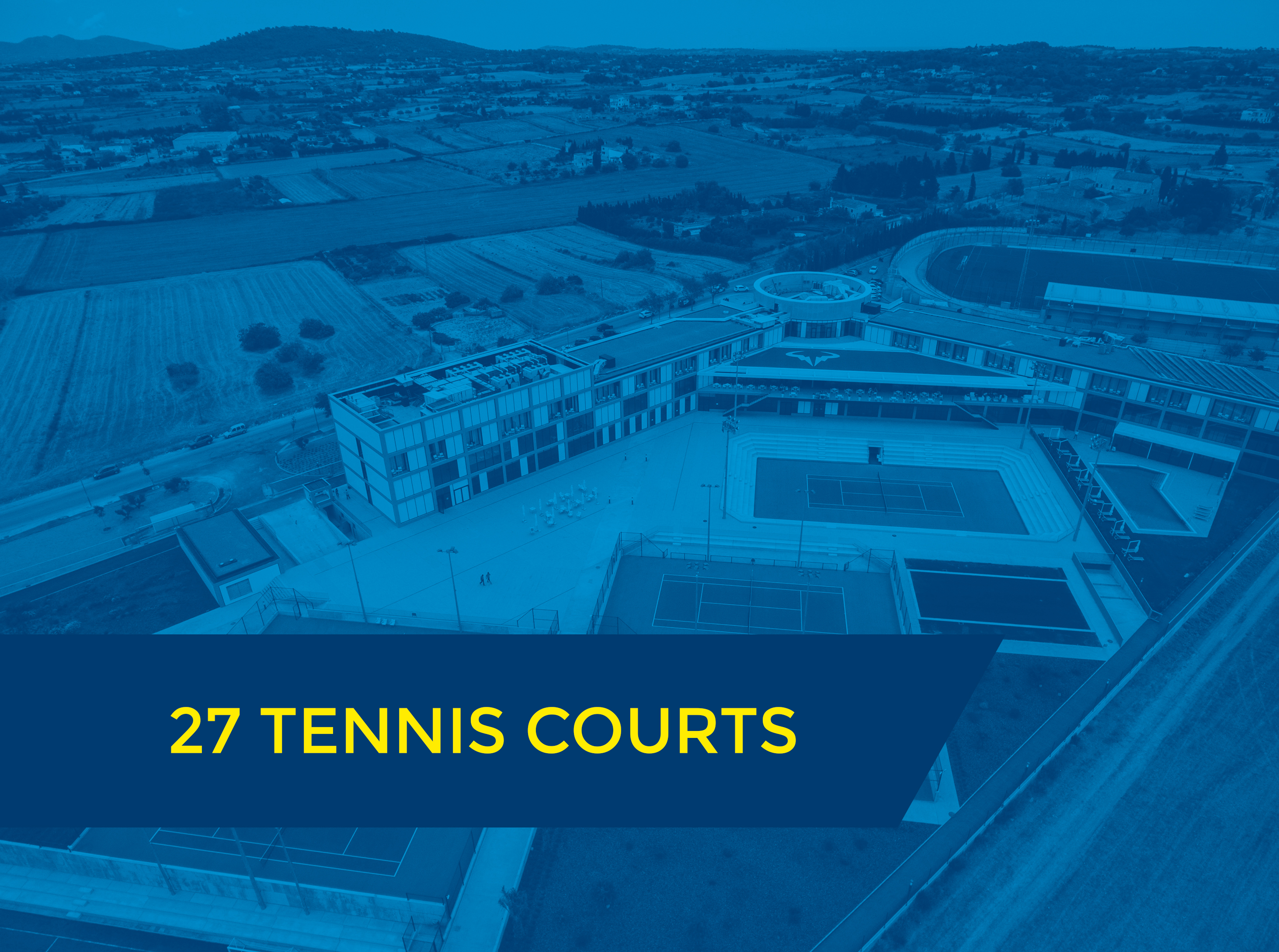27 courts with text